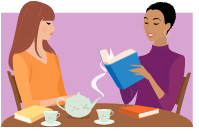 because loads of women sit down over tea nowadays and read to each other
