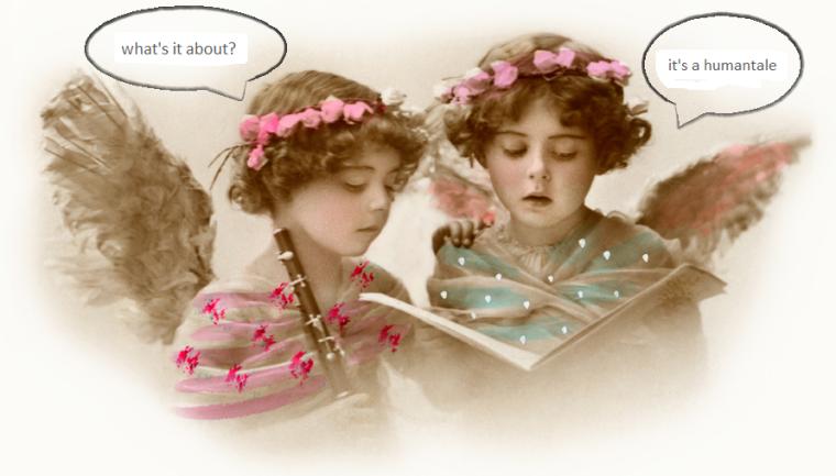 Fairies reading a humantale