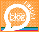 Blog Awards Ireland 2015 Finalist - Best Art and Culture